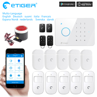 Chuangkesafe S3B ETIGER LCD Wireless Wired GSM SMS Intruder Burglar For Home Security Alarm System As