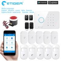 S3B Etiger eTIGER LCD Inalámbrico y Por Cable GSM/SMS Intruder Sistema de Alarma Antirrobo Para la Seguridad Casera como iguales que Chuango G5