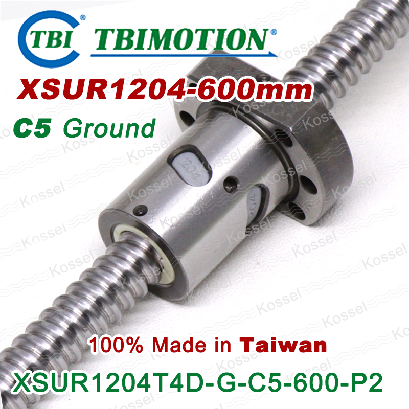 TBI 1204 C5 600mm ball screws with SFU1204 4mm lead screw nut of SFU set end machined for high precision CNC kit горелка tbi 240 5 м esg