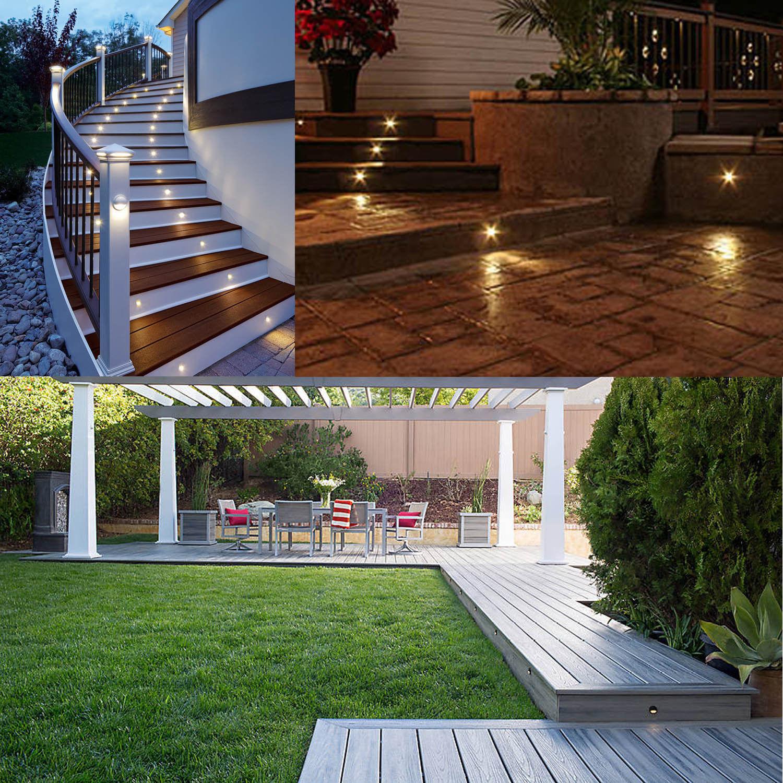 Cozinha Luzes Do Pátio Convés Degrau Jardim