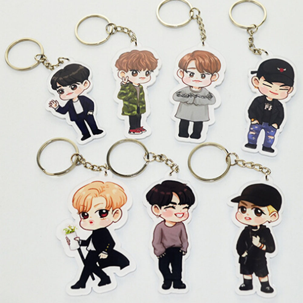 Style; In Kpop Got7 Portable Summer Hand Fans Jb Jinyoung Mark Jackson Youngjae Costumes Cartoon Toy Collection Hf140 Fashionable