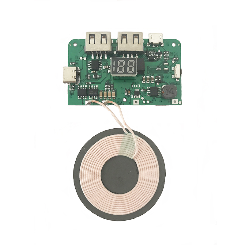 New Qi Wireless Charger PCBA Circuit Board Power Bank Circuit Module Coil Wireless Charging For Micro Type-C USB Port DIY 81 70 0 7mm 20uh maglev large coil wireless charging power supply coil xkt l35