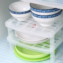 1 слойный органайзер для хранения тарелок прозрачная Антибактериальная вертикальная стойка для посуды креативная кухонная стойка Удобная Экономия пространства