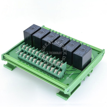 Omron relay module 6-channel module driver board output amplifier board PLC board G4W 12V or 24V