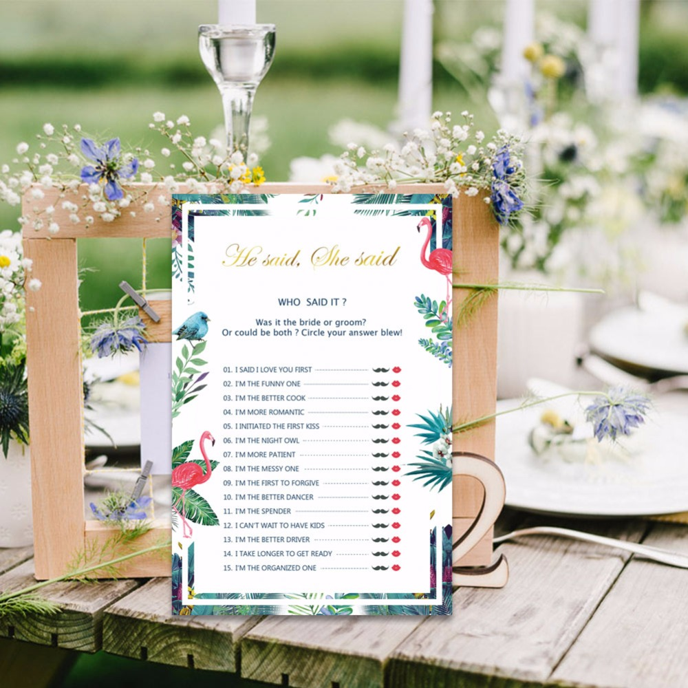 OurWarm 50 Sheets Bridal Shower and Wedding Anniversary Game Cards ...