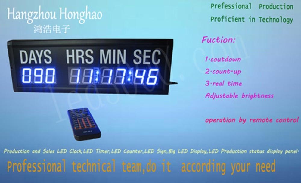 1.8 նիշանոց կապույտ գույնի օր, ժամեր, րոպեներ և վայրկյաններ ՝ հաշված ժամացույցի, ժամաչափի, պատի ժամացույցի, անվճար առաքման (HIT9-1.8B)
