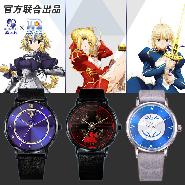 [Fate Apocrypha]Anime Watch Mordred Jeanne Alter Fate Ruler Saber Rin Emiya Fate Grand Order FGO Cosplay Action figure Gift