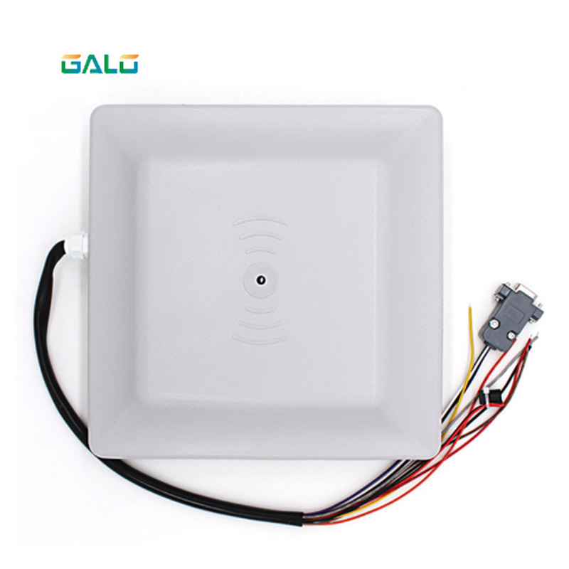 Parking and access control UHF RFID reader 6m long range reader integrated antenna RS232/485 Wiegand with Free SDK FCC approvedParking and access control UHF RFID reader 6m long range reader integrated antenna RS232/485 Wiegand with Free SDK FCC approved