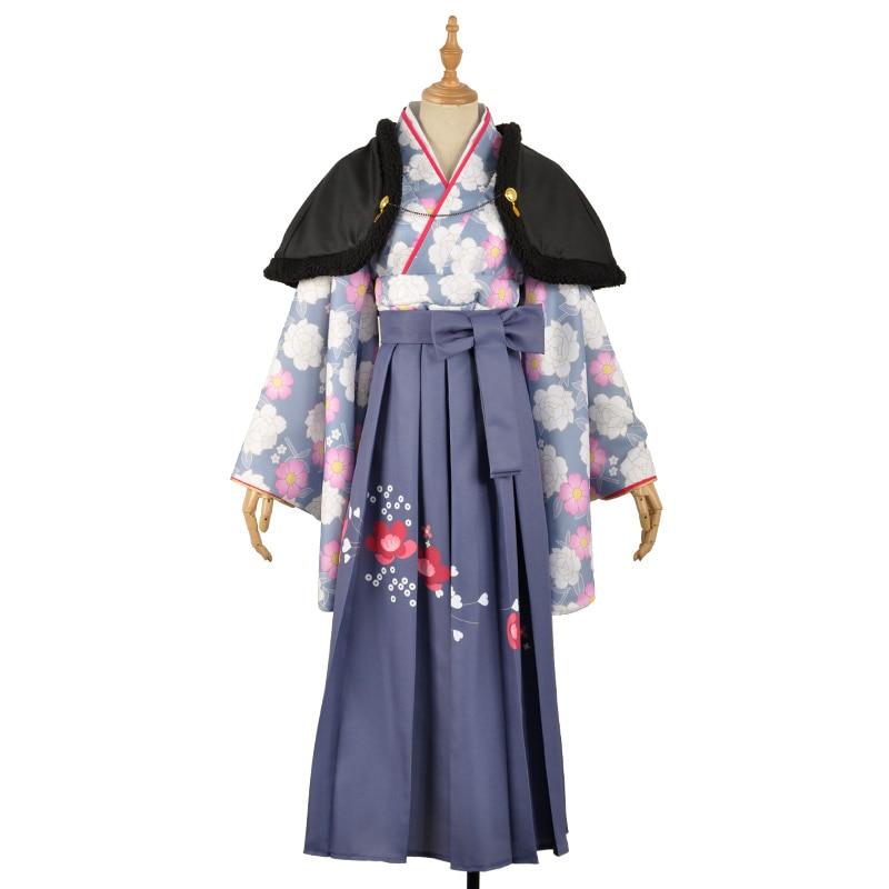 Love Live Sunshine Cosplay Costumes Aqours Tsushima Yoshiko Taisho Kimono Yukata Dress Outfit Anime Cosplay Costumes