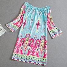 Fashion Bohemian Summer Dress Print Beach Vintage Sexy Female Vestidos Renda Casual Ladies Tops Clothes Women Robe Party Dresses