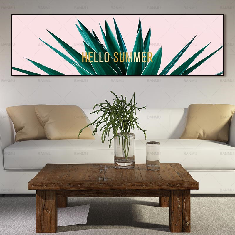 Art print wall picture canvas painting plant on canvas and posters flower wall art Painting decoration for living room no frame