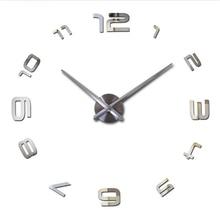 ФОТО 2017 3d wall stickers high quality  creative fashion living room clocks large wall clock diy home decoration acrylic + eva