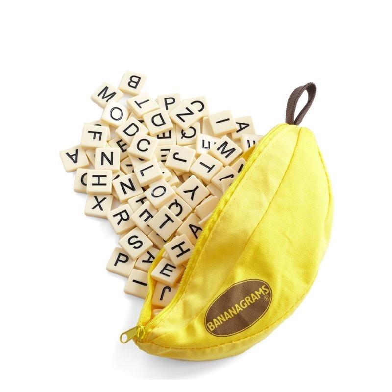 2017 новая игрушка-головоломка bananagrams забавный банан шахматы правописания обучения английского слова abc развивающие игрушки игры play читающая семья