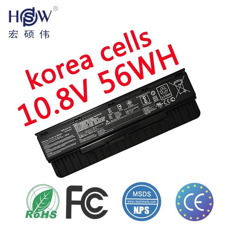 HSW Nytt laptop batteri A32N1405 10.8V 56WH För Asus G551 G551J - Laptop-tillbehör