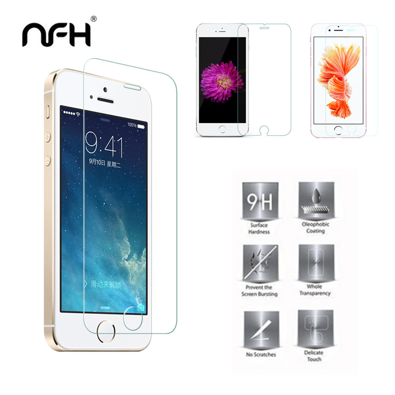 mm d Tempered glass for iPhone S C SE H Protection prevent