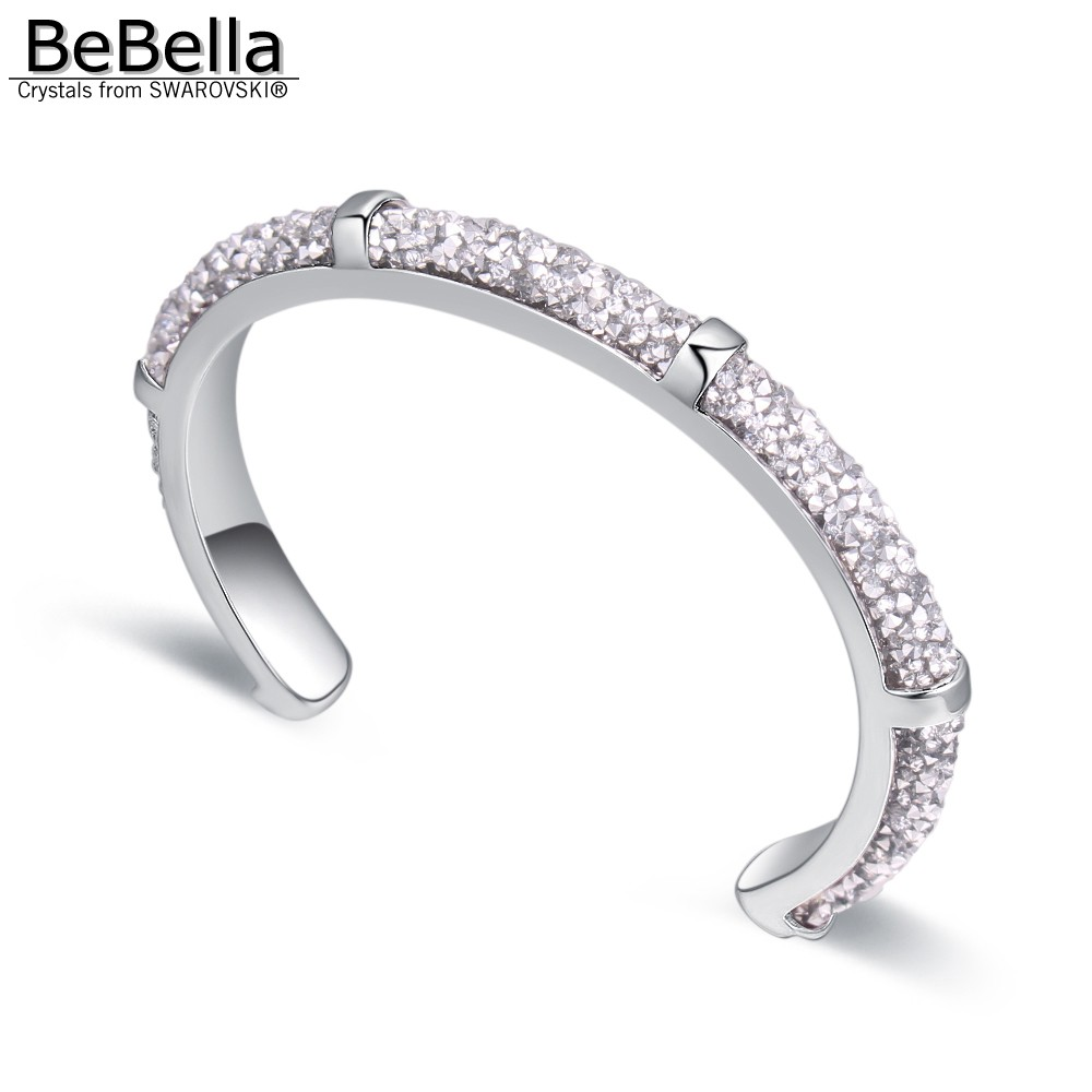 b7951bb15563 BeBella laminado cristal rocas polvo brazalete pulsera brazalete con cristales  checos para el regalo de la
