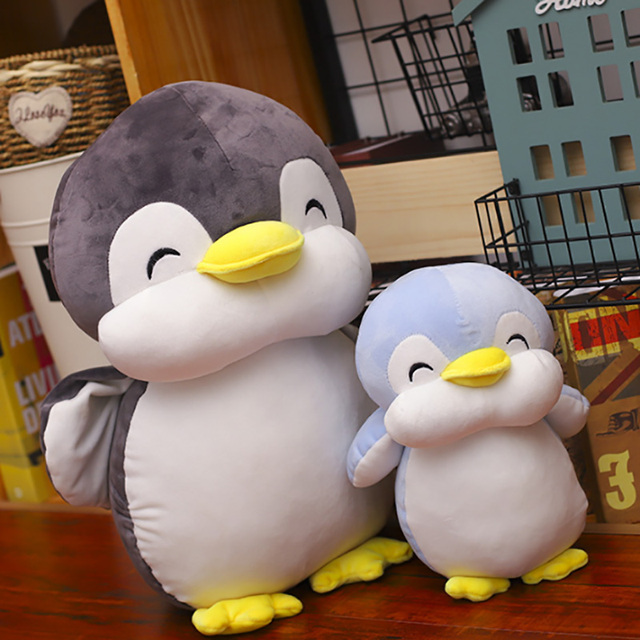 22 cm חיוך פינגווין בפלאש צעצועי חיות חמודה בובת רך כותנה בפלאש צעצועי ילדים יום הולדת מתנה לחג המולד