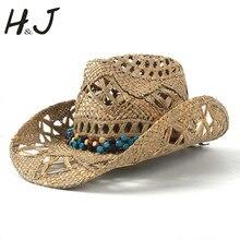 Sombrero de vaquero 100% PAJA Natural mujeres hombres armadura del trabajo  hecho a mano sombreros 4d291549a79