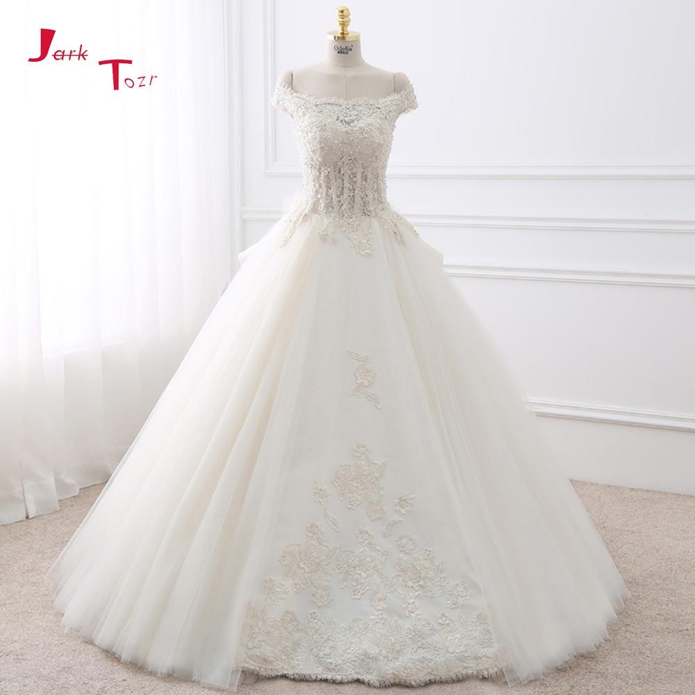 Jark Tozr 2018 New Gorgeous White Ball Gown Wedding Dresses Turkey ...