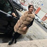 2017 Con Cáo Lông Gilets Of Áo Khoác Cho Phụ Nữ Tự Nhiên Lông Mùa Đông Genuine Bất Fox Fur Furry Vest Cộng Với Kích Thước Xuống Lót Waistoat 103138