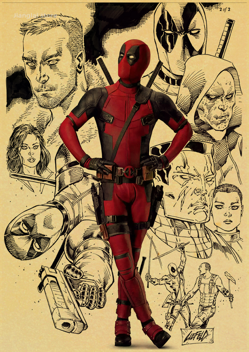 NEW retro Posters Deadpool Deadpool Marvel superhero home decorative ...