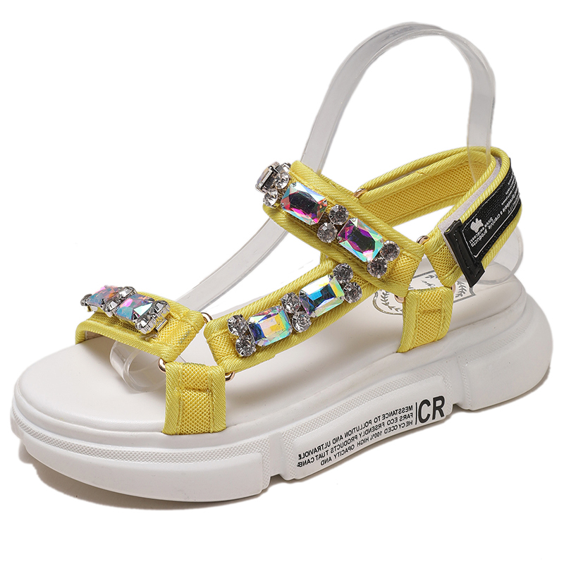 Wedges Shoes Comfortable Sandals Diamond New-Fashion Open-Toed Cool Outdoor Women