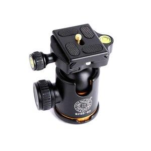 Image 2 - QZSD Q02 Aluminum Panoramic Ballhead with Quick Release Plate Pro Camera Tripod Max load to 15kg for Camera Tripod Monopod