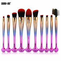 10 Pcs Eyes Makeup Brushes Set Eye Shadow Eyebrow Concealer Make Up Brushes Tools Beauty Cosmetic