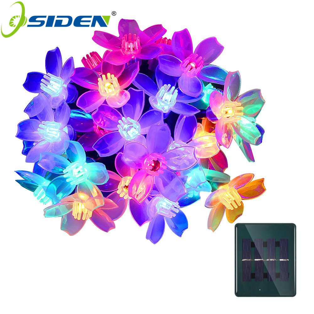Christmas Lights Outdoor Solar String Lights 21ft 50 LED Flower Garden Light Blossom Lighting For Home Wedding Party Decoration