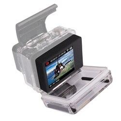 Dla GoPro BacPac monitor Lcd go pro Hero 3 3 + 4 ekran Lcd Bacpac + tylne drzwi skrzynki pokrywa dla Gopro Hero 3 3 + 4 akcesoria w Etui na kamery sportowe od Elektronika użytkowa na