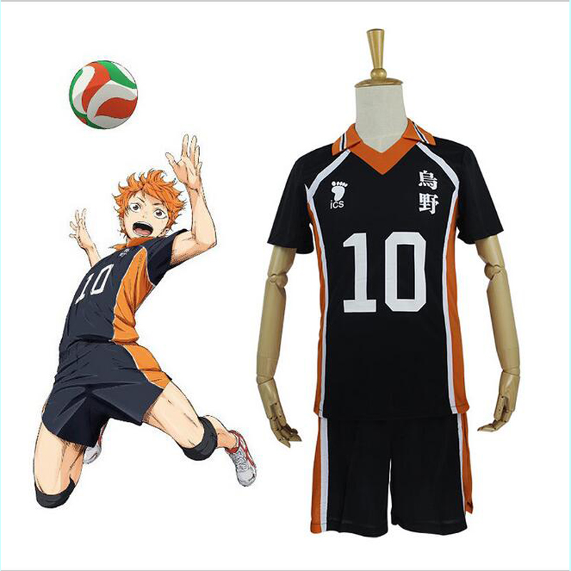 цена New Arrival Hot Anime Karasuno High School Volleyball Club Cosplay Costume Sportswear Haikyuu!! Jerseys 9 Characters Uniform
