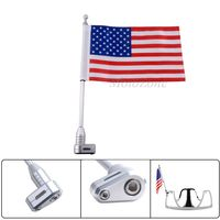 Motorcycle Accessories Rear Mount Flag Pole Luggage Rack Vertical American For Honda GoldWing GL1800 GL1200 2001 2011