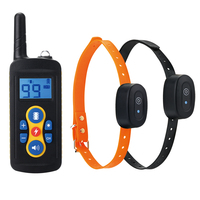 Waterproof Dog Training Collar 500m Remote Range Vibration&Electric Shock&Sound Control Electronic Bark stop collar