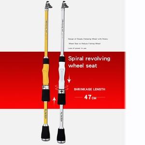 Image 2 - TIASCFR Carbon Fiber Telescopic Fishing Rod 1.8M 2.1M 2.4M Portable Spinning Fishing Rod Pole Travel Sea Boat Rock Casting Rod