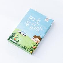 30pcs/lot Sunshine Creative Beautiful Green Greeting Card s Christmas Card Birthday Card Free Shipping