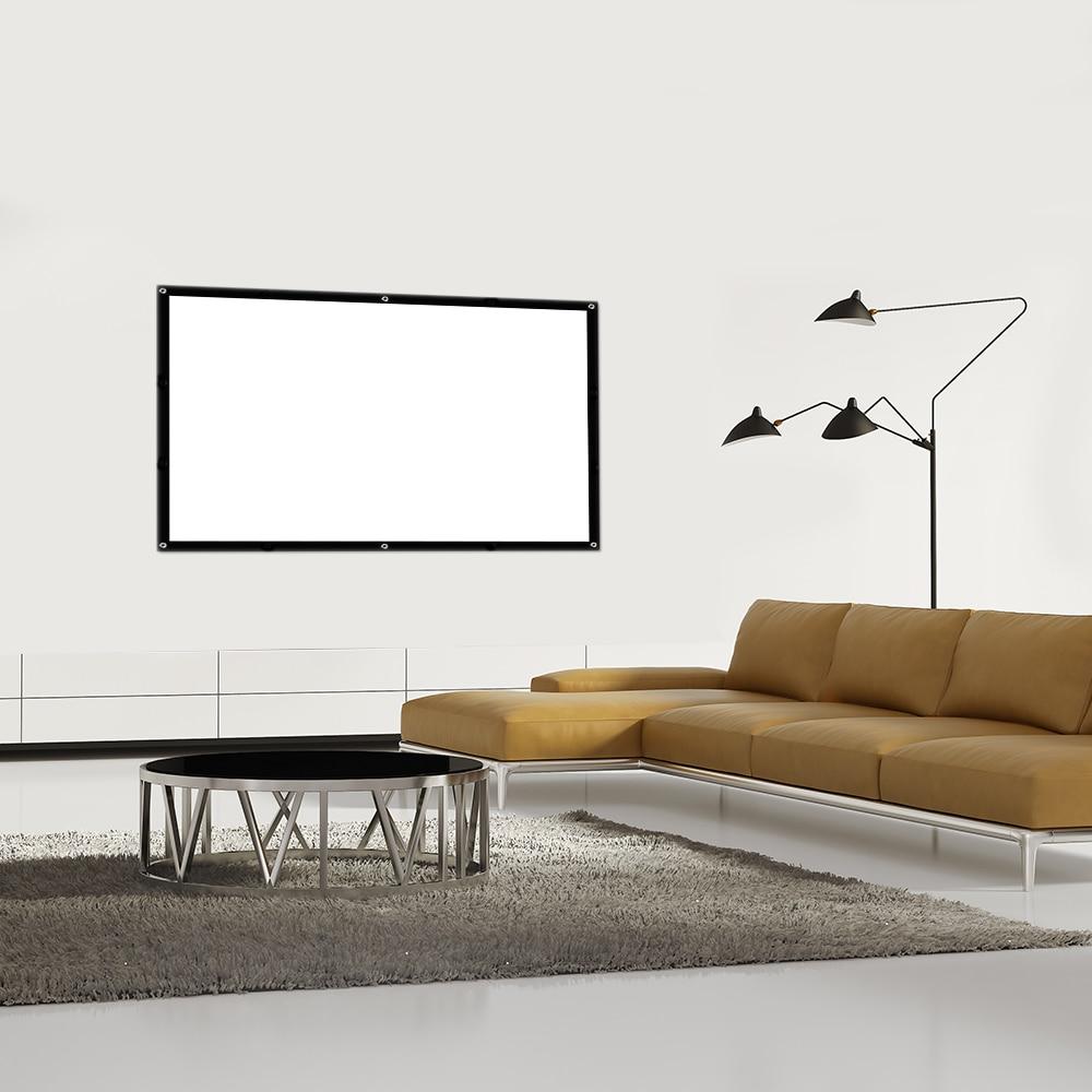 Touyinger 83 Zoll 16:9 Tragbare Projektor Bildschirm Kunststoff ...