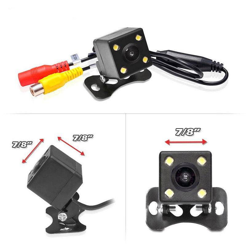 Image 5 - HD Car Rear View Camera 4 LED Lights Rearview Camera Night Vision Auto Parking Cameras Waterproof Vehicle Reverse Camera-in Vehicle Camera from Automobiles & Motorcycles