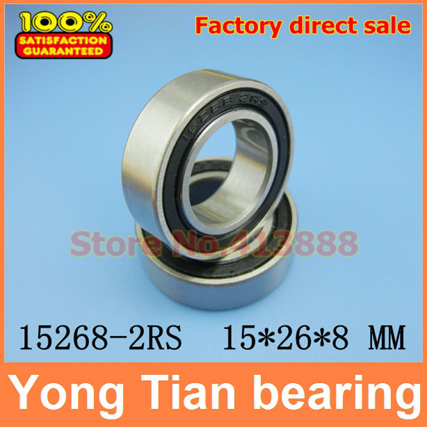 Bicycle wheel bearing repair parts 15268-2RS 15*26*8 mm 15268 ceramic wheel hub bearing zro2 15268 15 26 8mm full zro2 ceramic bearing