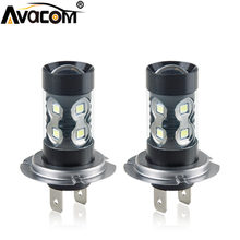 Avacom 2 pièces LED H11/H8/H9 Voiture Antibrouillard 12 V 24 V H1 H3 H7 9005/HB3 9006/HB4 1200lm 6000 K Blanc/Jaune/Bleu Feux de jour(China)