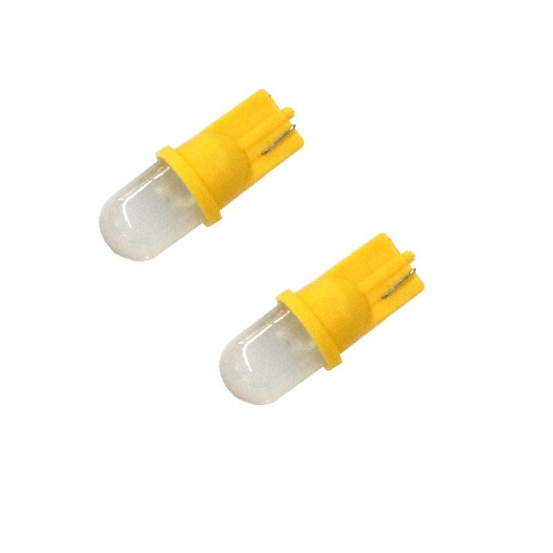 цена на T10 Car LED SMD 3000 3d W5W Yellow light Car Side direction indicator License plate light Door Map Lamp Bulbs DC 12V 2Pcs