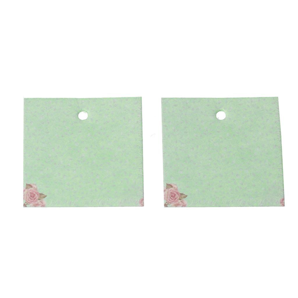 "DoreenBeads Paper Label Tags Light green Flower Pattern 4cm(1 <font><b>5</b></font>/<font><b>8</b></font>"")<font><b>x</b></font> 4cm(1 <font><b>5</b></font>/<font><b>8</b></font>""),50 Sheets"