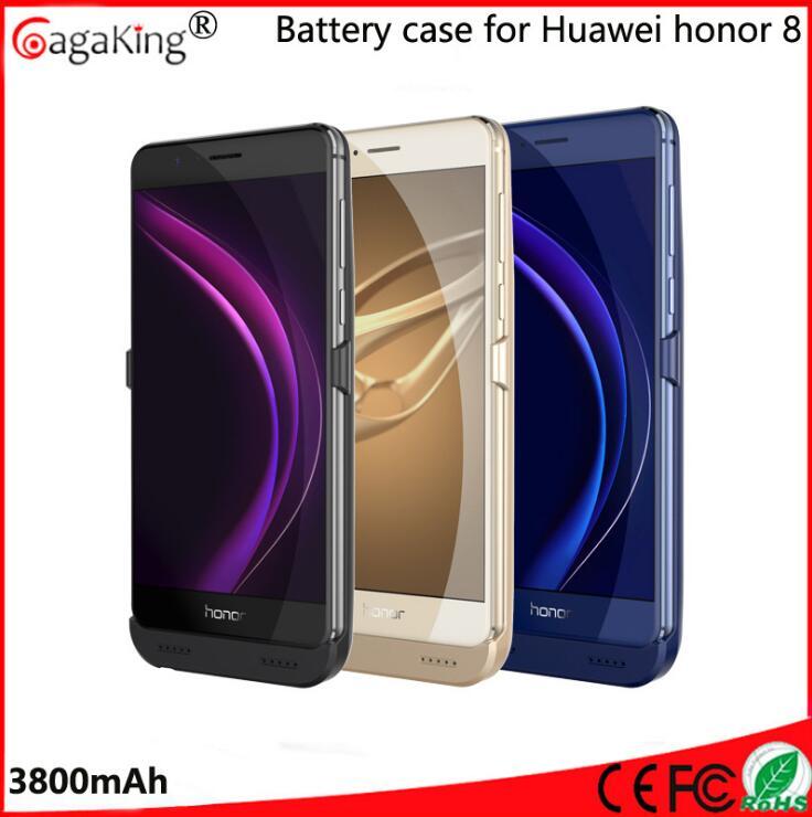 imágenes para Huawei honor 8 honor8 caja de batería 3800 mah externa batería de reserva cubierta del caso del cargador power bank pack caso huawei honor 8 potencia