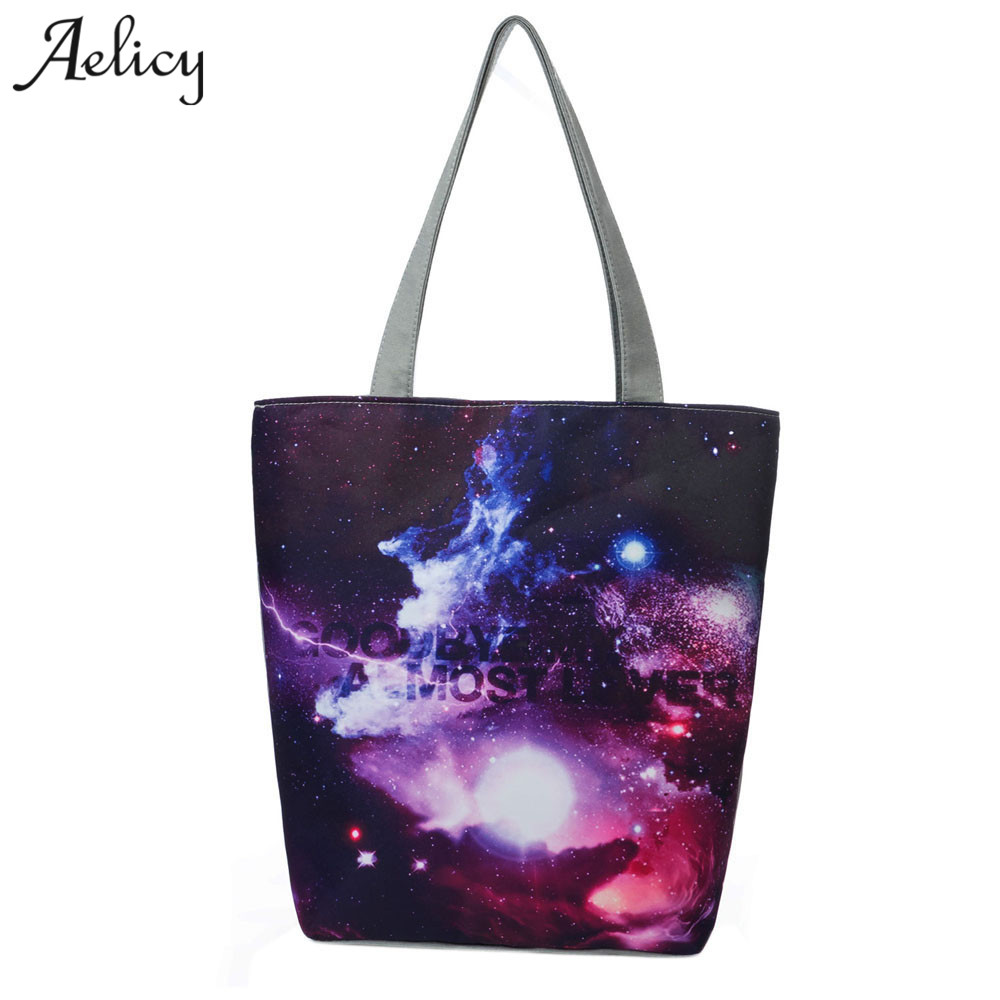 Aelicy 2018 Fashion Reusable Shopping Bags Grocery Packing Recyclable Bag Hight Simple Design Healthy Tote Handbag Vintage