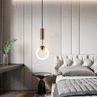 מודרני תליון תקרת מנורות LED אורות תליון זכוכית ברזל בהמתנה תאורת אוכל סלון נברשת שינה תליית אור
