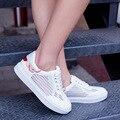 Mujeres moda Zapatos casuales 2016 nuevo transpirable plataforma Zapatos de Mujer Zapatos de verano primavera Zapatos de Mujer de malla mujeres cuña zapatillas
