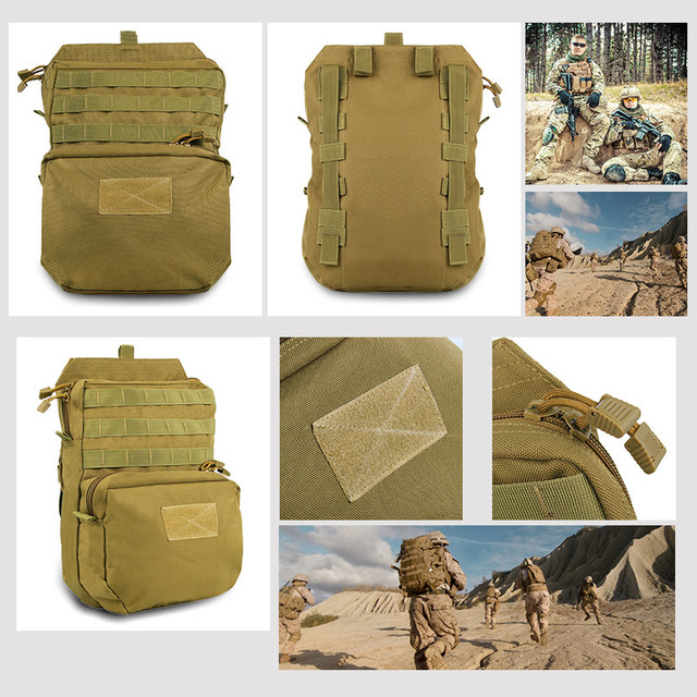 Tactical Hydration Backpack Pouch for Water Bag 1050D Nylon Attached to Tactical Vest
