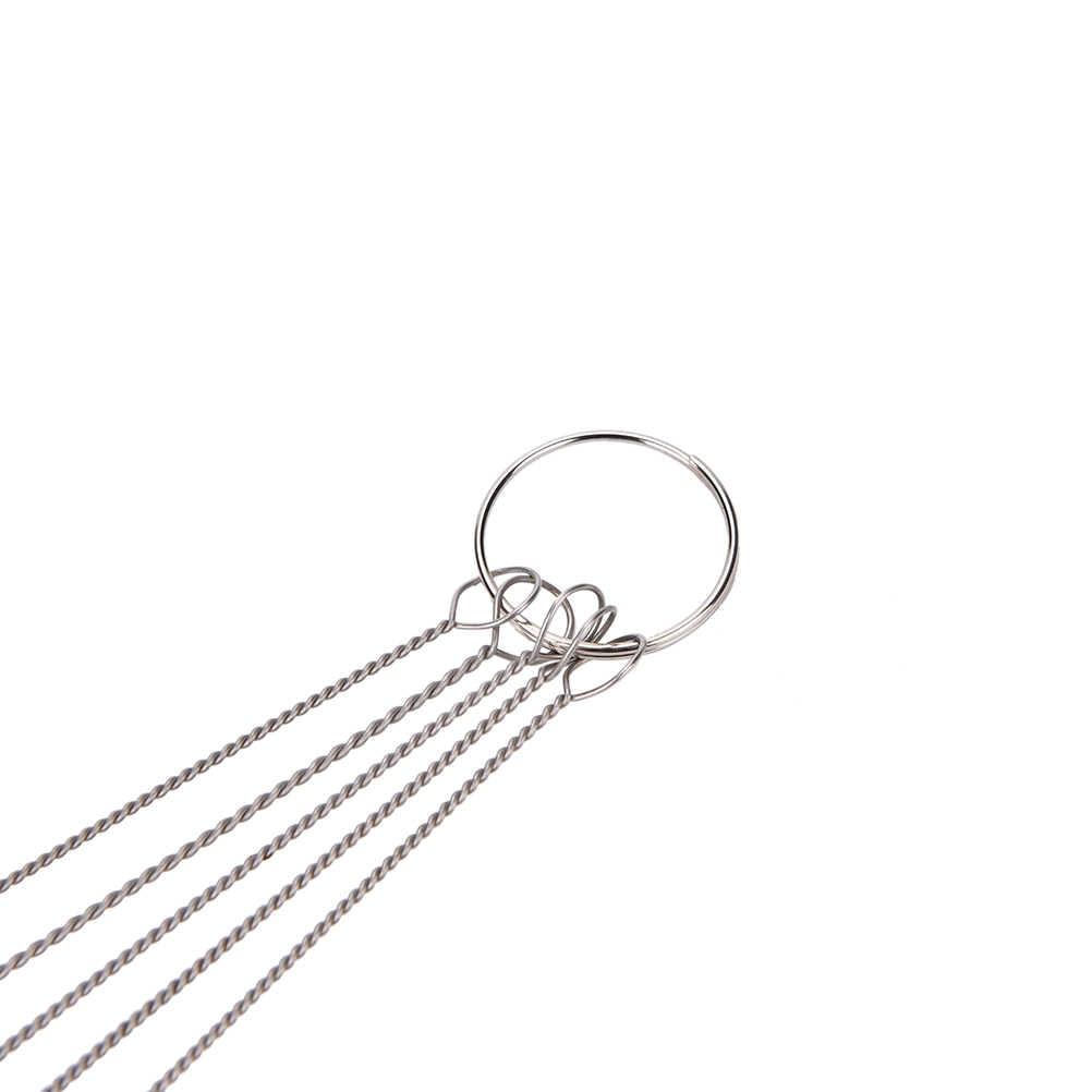 5 pcs Airbrush Reinigingsborstel Naald Mond Spuitpistool Naald & Borstel Kit