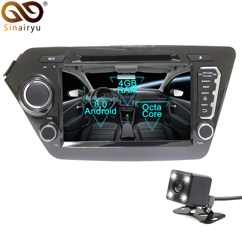 Sinairyu 2 Din Android 8 0 Octa Core Car DVD Player for Kia K2 RIO 2011