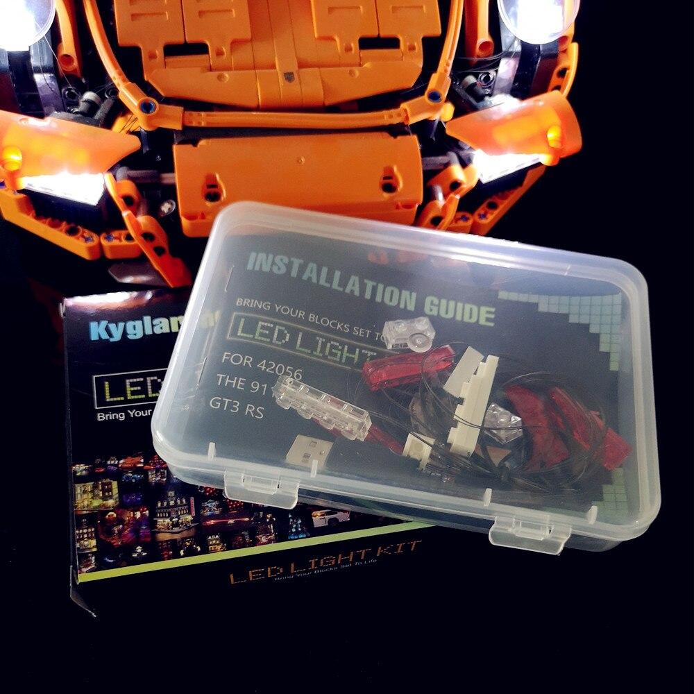 Kit de luz Led (luz incluido) para lego 42056 y Compatible con 20001 técnica 911 (no incluye el coche ladrillos conjunto