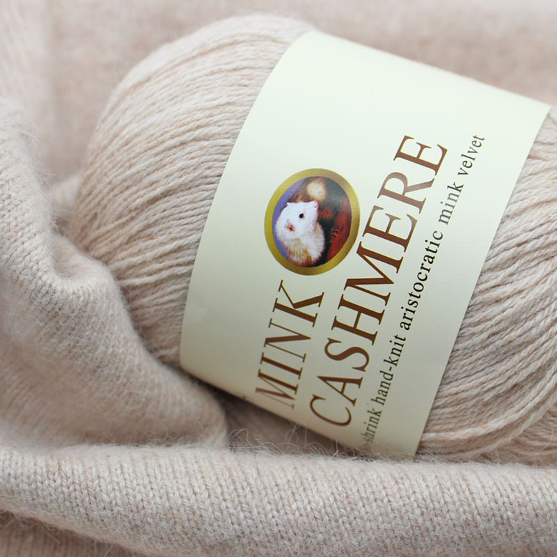 300g/lot Top quality 100% Hand Knitting Mink Cashmere Wool Yarns for knitting hand-knitted wool Sweater scarf yarn fluff thread